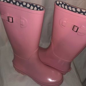 NWOT PINK Rubber Rain Boots